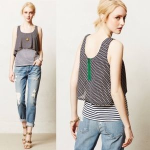 Anthropologie Meadow Rue layered tank top